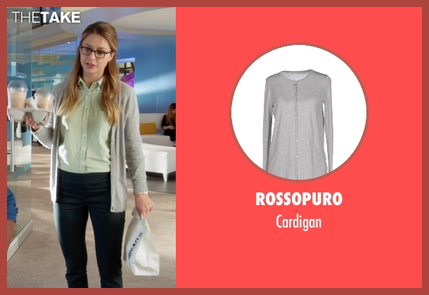 Rossopuro gray cardigan from Supergirl seen with Kara Danvers/Supergirl (Melissa Benoist)