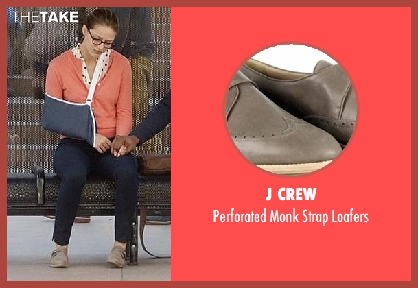 J Crew gray loafers from Supergirl seen with Kara Danvers/Supergirl (Melissa Benoist)