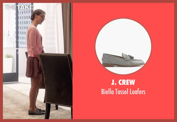 J. Crew gray loafers from Supergirl seen with Kara Danvers/Supergirl (Melissa Benoist)