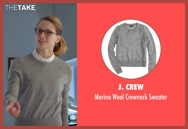 J. Crew gray sweater from Supergirl seen with Kara Danvers/Supergirl (Melissa Benoist)