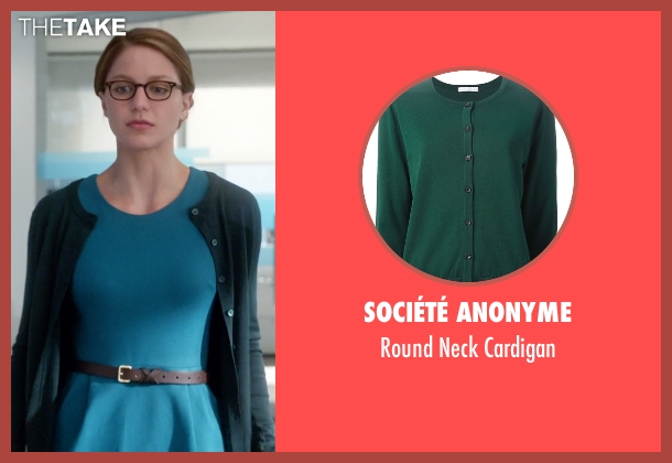 Société Anonyme green cardigan from Supergirl seen with Kara Danvers/Supergirl (Melissa Benoist)