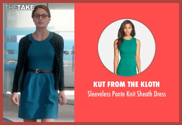 Kut From The Kloth green dress from Supergirl seen with Kara Danvers/Supergirl (Melissa Benoist)