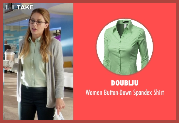 Doublju green shirt from Supergirl seen with Kara Danvers/Supergirl (Melissa Benoist)
