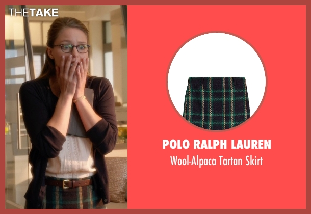 Polo Ralph Lauren green skirt from Supergirl seen with Kara Danvers/Supergirl (Melissa Benoist)