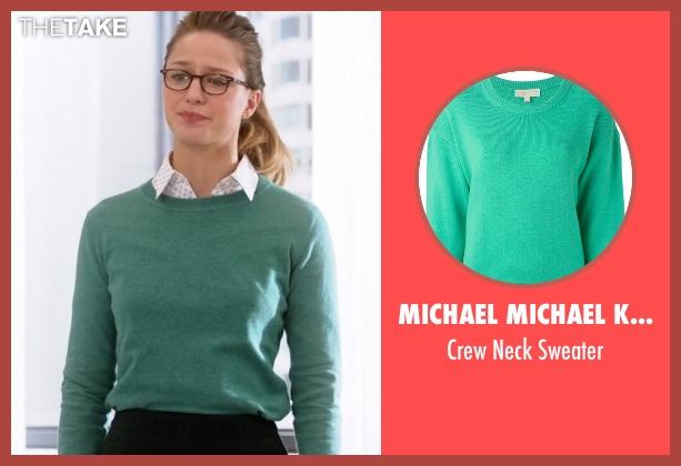 Michael Michael Kors green sweater from Supergirl seen with Kara Danvers/Supergirl (Melissa Benoist)