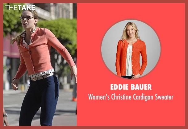 Eddie Bauer orange sweater from Supergirl seen with Kara Danvers/Supergirl (Melissa Benoist)