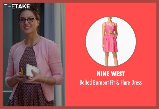 Nine West pink dress from Supergirl seen with Kara Danvers/Supergirl (Melissa Benoist)