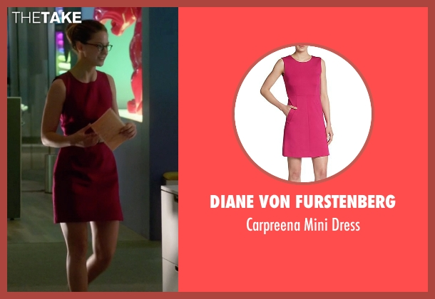 Diane Von Furstenberg pink dress from Supergirl seen with Kara Danvers/Supergirl (Melissa Benoist)