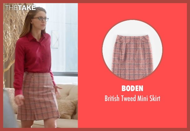 Boden pink skirt from Supergirl seen with Kara Danvers/Supergirl (Melissa Benoist)