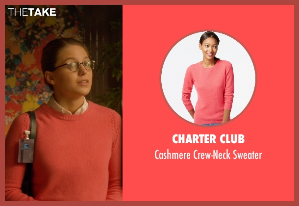 Charter Club pink sweater from Supergirl seen with Kara Danvers/Supergirl (Melissa Benoist)
