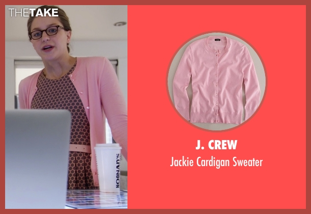 J. Crew pink sweater from Supergirl seen with Kara Danvers/Supergirl (Melissa Benoist)