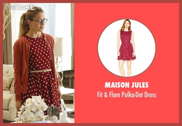 Maison Jules red dress from Supergirl seen with Kara Danvers/Supergirl (Melissa Benoist)