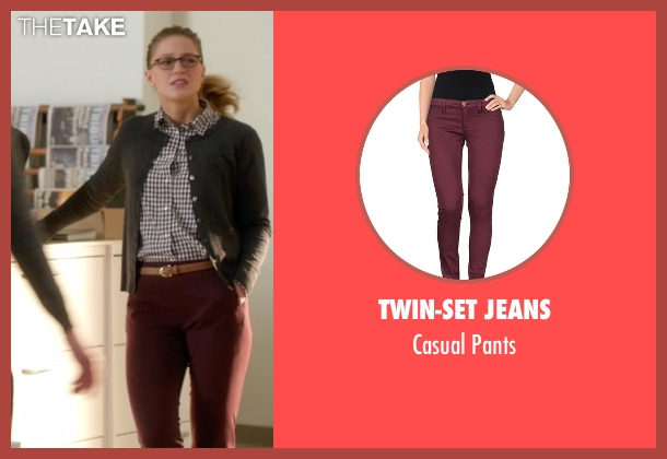 Twin-Set Jeans red pants from Supergirl seen with Kara Danvers/Supergirl (Melissa Benoist)