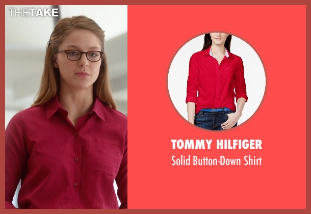 Tommy Hilfiger red shirt from Supergirl seen with Kara Danvers/Supergirl (Melissa Benoist)