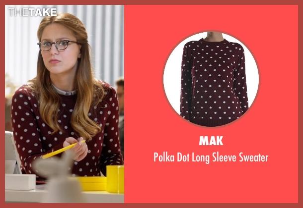 Mak red sweater from Supergirl seen with Kara Danvers/Supergirl (Melissa Benoist)