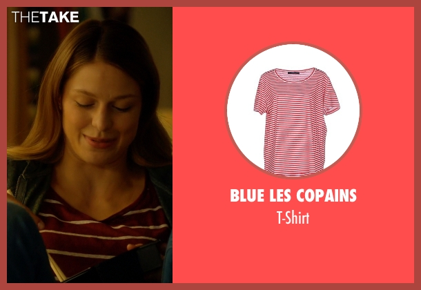 Blue Les Copains red t-shirt from Supergirl seen with Kara Danvers/Supergirl (Melissa Benoist)