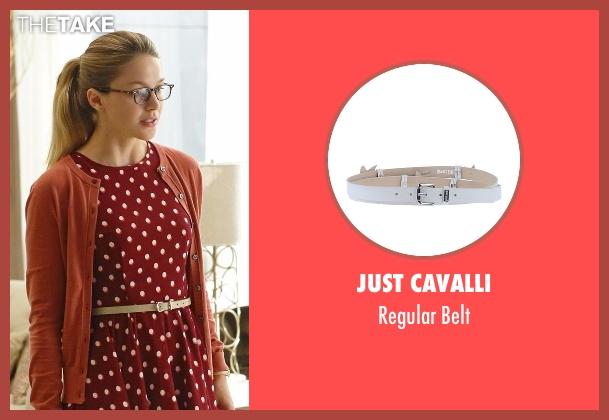 Just Cavalli white belt from Supergirl seen with Kara Danvers/Supergirl (Melissa Benoist)