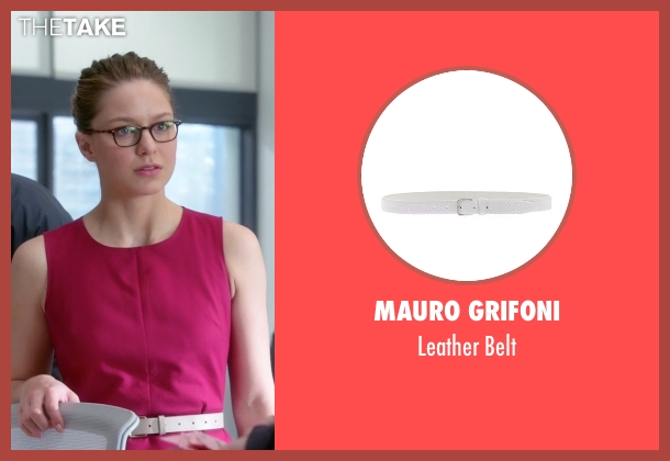 Mauro Grifoni white belt from Supergirl seen with Kara Danvers/Supergirl (Melissa Benoist)