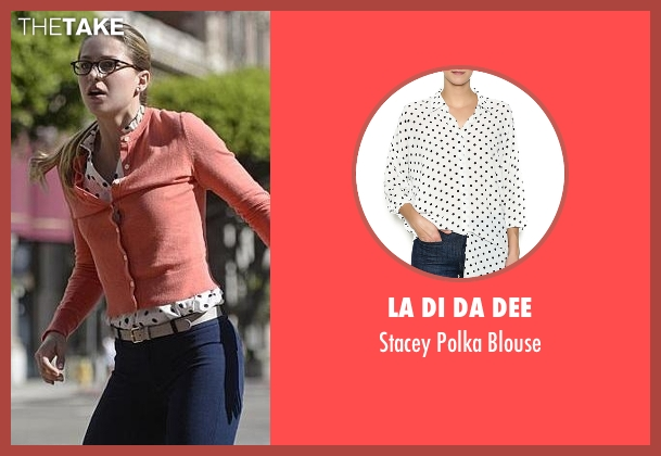 La Di Da Dee white blouse from Supergirl seen with Kara Danvers/Supergirl (Melissa Benoist)