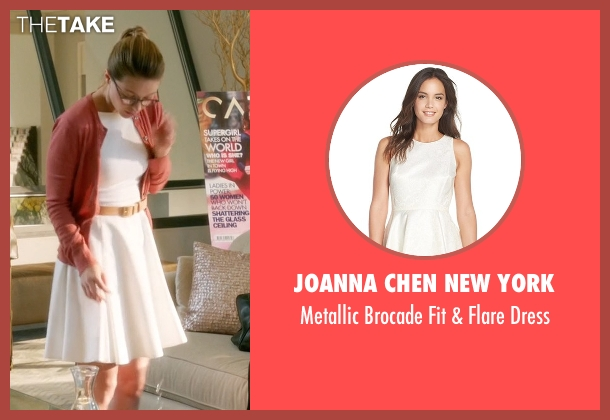 Joanna Chen New York white dress from Supergirl seen with Kara Danvers/Supergirl (Melissa Benoist)