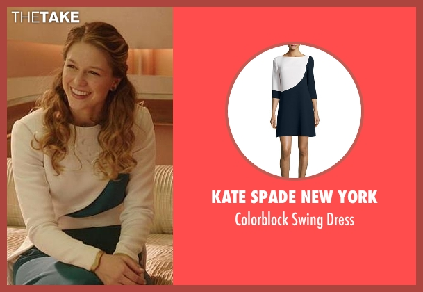 Kate Spade New York white dress from Supergirl seen with Kara Danvers/Supergirl (Melissa Benoist)