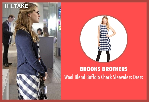 Brooks Brothers white dress from Supergirl seen with Kara Danvers/Supergirl (Melissa Benoist)