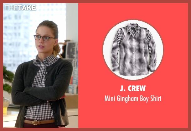J. Crew white shirt from Supergirl seen with Kara Danvers/Supergirl (Melissa Benoist)