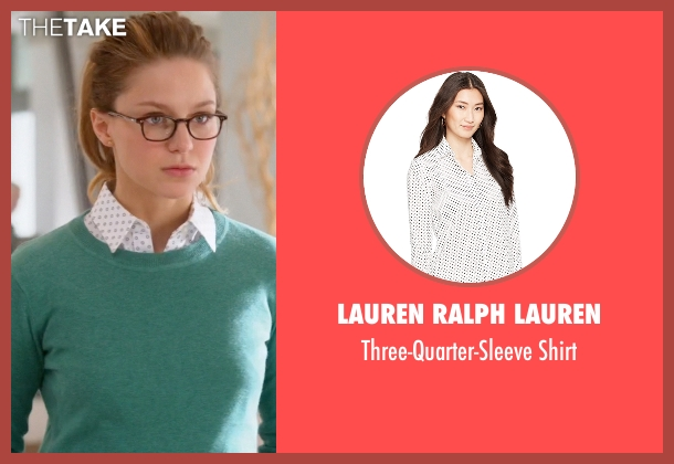 Lauren Ralph Lauren white shirt from Supergirl seen with Kara Danvers/Supergirl (Melissa Benoist)