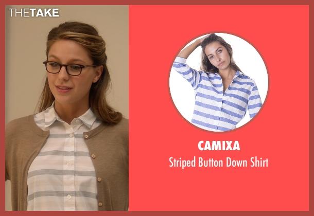 Camixa white shirt from Supergirl seen with Kara Danvers/Supergirl (Melissa Benoist)