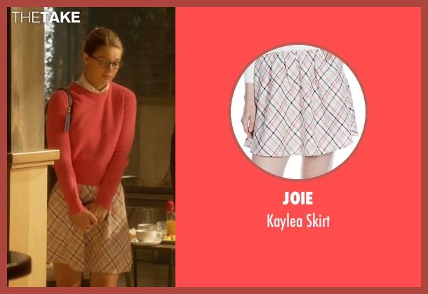Joie white skirt from Supergirl seen with Kara Danvers/Supergirl (Melissa Benoist)