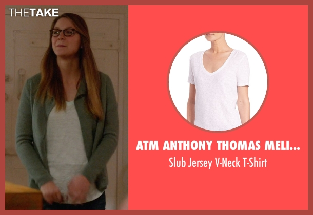 ATM Anthony Thomas Melillo white t-shirt from Supergirl seen with Kara Danvers/Supergirl (Melissa Benoist)