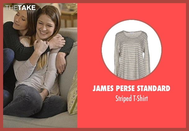 James Perse Standard white t-shirt from Supergirl seen with Kara Danvers/Supergirl (Melissa Benoist)