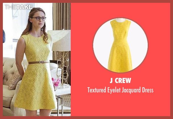 J Crew yellow dress from Supergirl seen with Kara Danvers/Supergirl (Melissa Benoist)