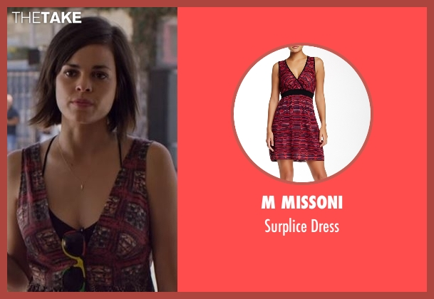 M Missoni red dress from Flaked seen with Kara (Lina Esco)