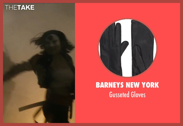 Barneys New York black gloves from Suicide Squad seen with Karen Fukuhara (Katana)