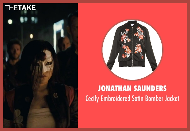 Jonathan Saunders black jacket from Suicide Squad seen with Karen Fukuhara (Katana)