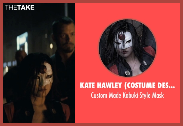Kate Hawley (Costume Designer) mask from Suicide Squad seen with Karen Fukuhara (Katana)