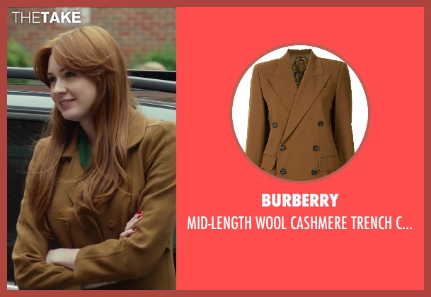 Burberry brown coat from Oculus seen with Karen Gillan (Kaylie Russell)