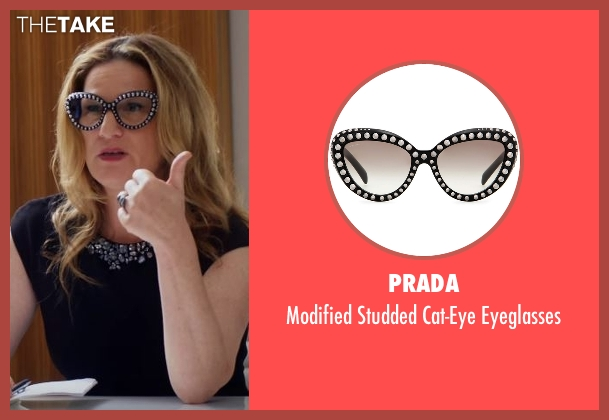 Prada black eyeglasses from Lady Dynamite seen with Karen Grisham (Ana Gasteyer)