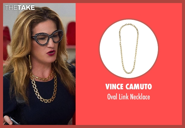 Vince Camuto gold necklace from Lady Dynamite seen with Karen Grisham (Ana Gasteyer)