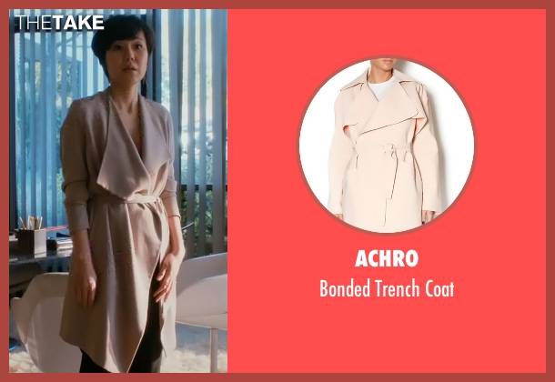 Achro beige coat from Mistresses seen with Karen Kim (Yunjin Kim)