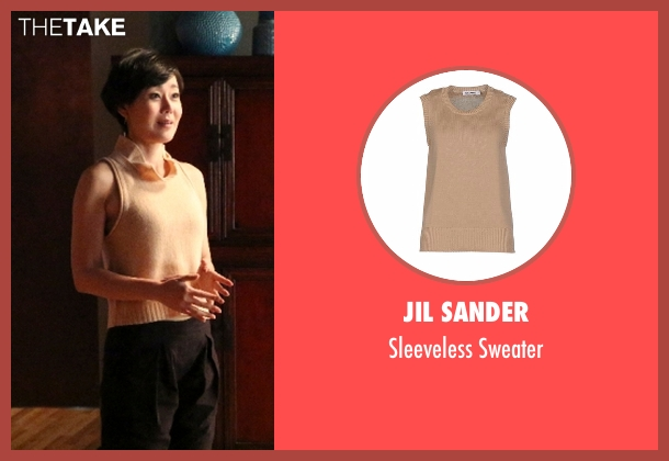 Jil Sander beige sweater from Mistresses seen with Karen Kim (Yunjin Kim)