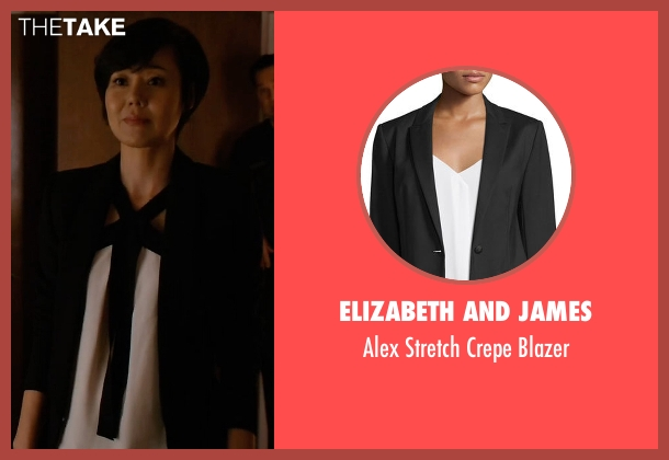 Elizabeth and James black blazer from Mistresses seen with Karen Kim (Yunjin Kim)