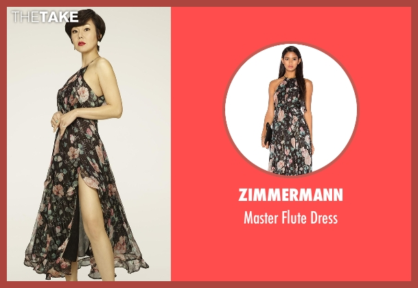 Zimmermann black dress from Mistresses seen with Karen Kim (Yunjin Kim)