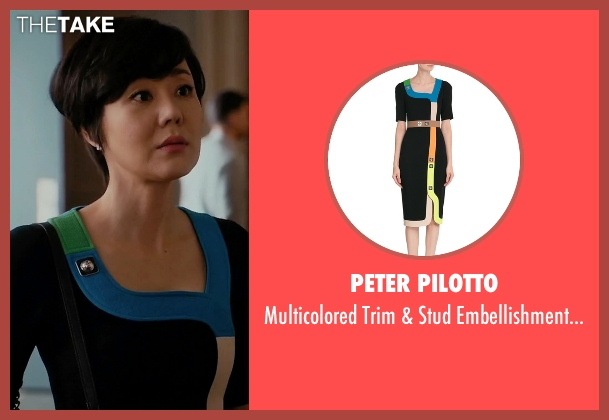 Peter Pilotto black dress from Mistresses seen with Karen Kim (Yunjin Kim)