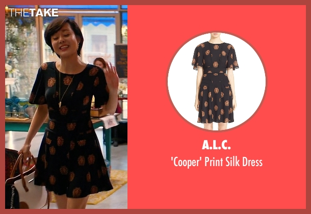 A.L.C. black dress from Mistresses seen with Karen Kim (Yunjin Kim)