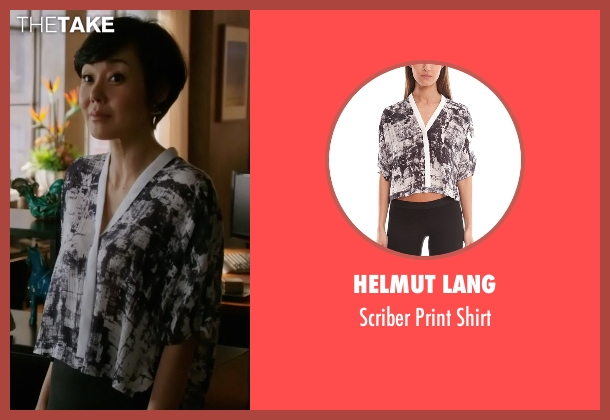 Helmut Lang black shirt from Mistresses seen with Karen Kim (Yunjin Kim)