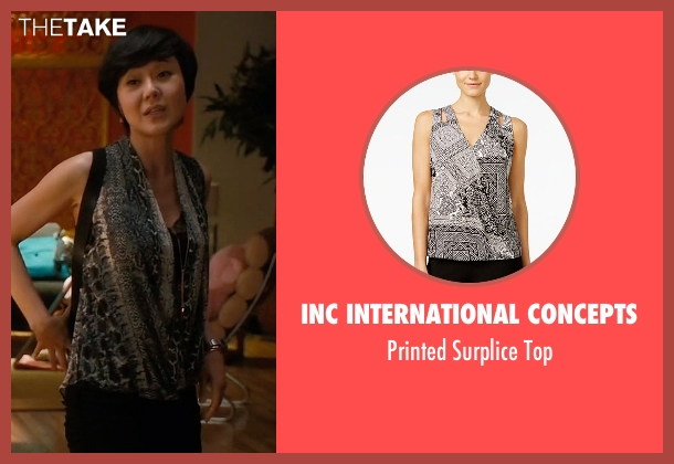 INC International Concepts black top from Mistresses seen with Karen Kim (Yunjin Kim)