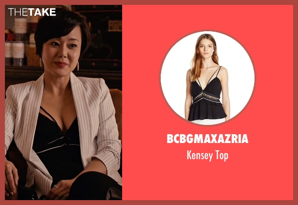 BCBGmaxazria black top from Mistresses seen with Karen Kim (Yunjin Kim)