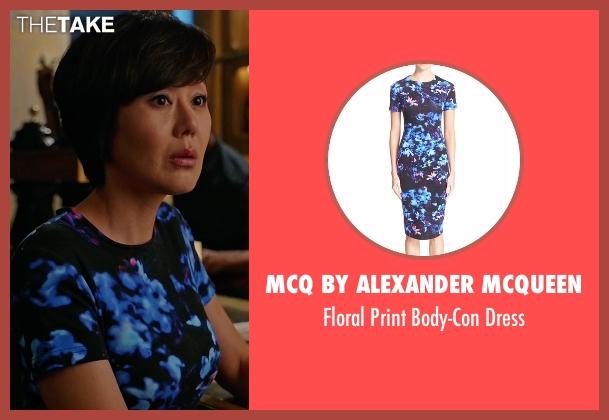 McQ by Alexander McQueen blue dress from Mistresses seen with Karen Kim (Yunjin Kim)